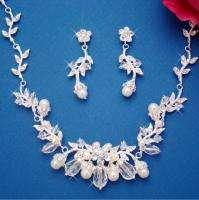 Swarovski Crystal & Pearl Bridal Jewelry Set Wedding