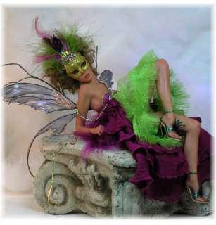 MARDI GRAS FAIRY   ooak by Faeries in the Attic (fita) art doll