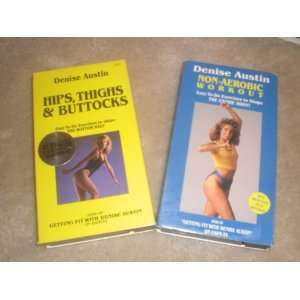 2 VHS videos by denise austin (hips, thighs & buttocks