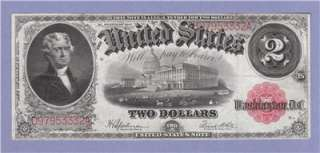 1917 Two Dollar Bill Legal Tender United States Note $2 Speelman/White