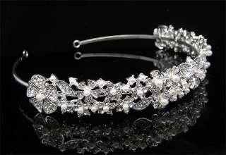 Wedding/Bridal crystal veil tiara crown headband CR200