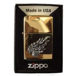 Zippo Custom Lighter   Flaming Lucky Dice Gamble Gambling Emblem Logo