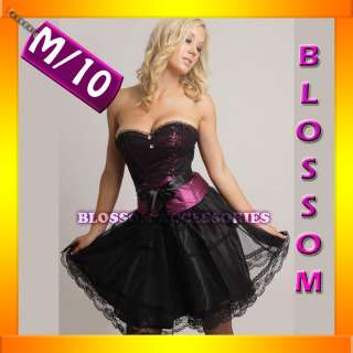 1692 Ladies Burlesque Moulin Rouge Can Can Corset Top Costume + Skirt