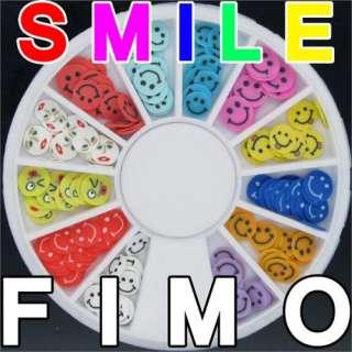 120 3D FIMO Slice Smiling Face Nail Art Decoration