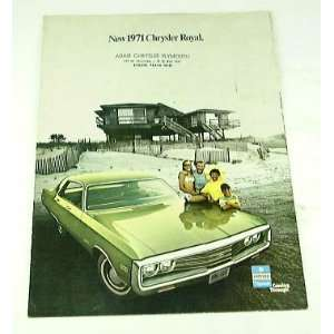 1971 71 Chrysler ROYAL BROCHURE: Everything Else