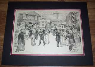 1890S HARPERS WEEKLY ART MATTED *ACTORS FUND FAIR* J