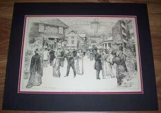 1890S HARPERS WEEKLY ART MATTED *ACTORS FUND FAIR* J |