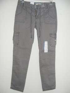 New LEVIS gray khaki boyfriend fit Cargo pants jeans size 4 roll up