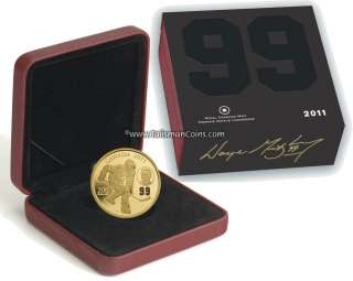 Canada 2011 Wayne Gretzky NHL Hockey $200 Gold Proof with Laser