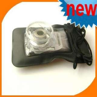 Black Waterproof Digital Camera Pouch Dry Bag Ski Case