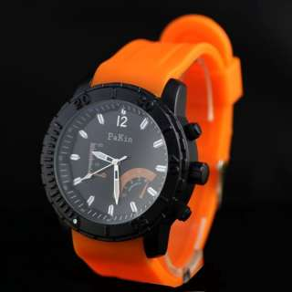 Band Big Dial Trendy Sport Mens Boy Wrist Watch
