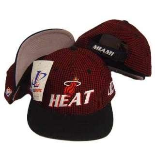 NBA MIAMI HEAT VINTAGE PLAID FLAT BILL VELCRO HAT CAP