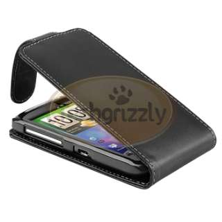 Leather Case Pouch Cover+Touch Stylus Pen For HTC Desire S Desire 2