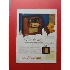 RCA Victor Radio, 1947 print ad (radio.) Orinigal Magazine