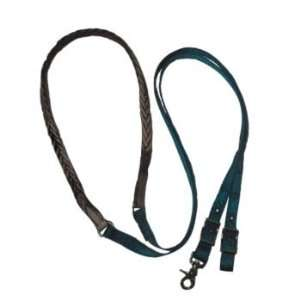 Triple E Nylon Braided Leather Grip Gaming Rein Br Pet