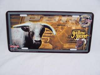 SET PBR BULL RIDERS RODEO METAL LICENSE PLATE SIGN