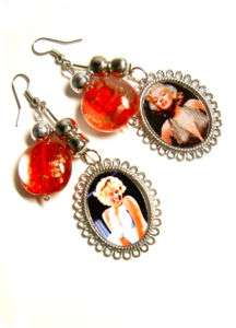 AnDy WarHoL PoP Art, MARILYN MONROE Charm earrings