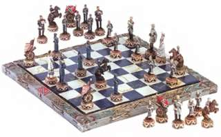 North & South Civil War Chess Set Board Game