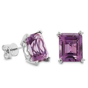 Amoro Tango Amethyst And 14kt White Gold Earrings Amoro Jewelry
