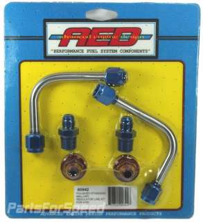 AED 60942 Stainless Fuel Line Kit for Mallory Regulators / Holley