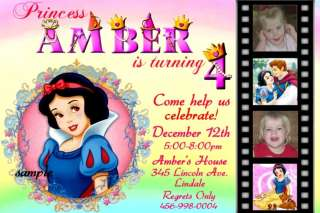 SNOW WHITE Birthday Invitations  Disney Princess Custom