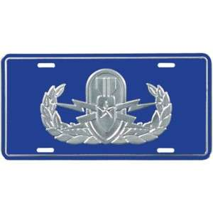 NAVY AIR FORCE EXPLOSIVE ORDINANCE EOD LICENSE PLATE