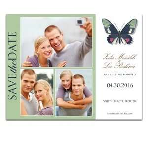 150 Save the Date Cards   Butterfly Moss Spice Dream