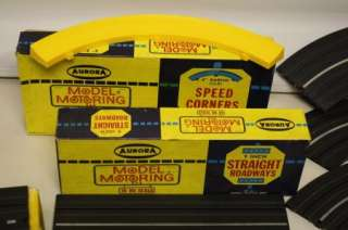 Vintage race car set Aurora Model Motoring Thunderjet 500 Table top