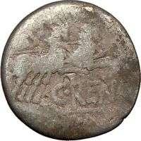 Roman Republic C. Renia LANUVIUM Juno Goat Chariot Authentic Ancient