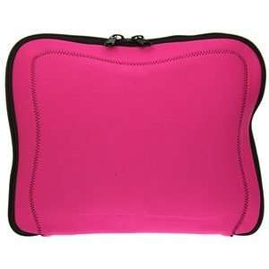 Pink Memory Foam Laptop / Notebook Sleeve With Black Stitching â? Up