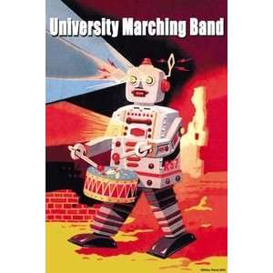 University Marching Band   12x18 Gallery Wrapped Canvas