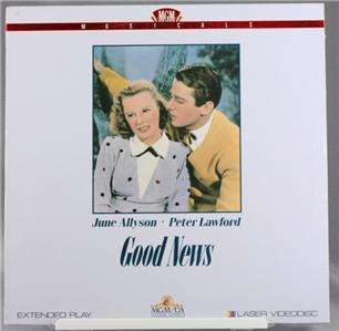 Laser Disc Movie Good News June Allyson Peter Lawford
