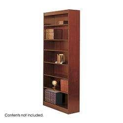 Safco Square Edge 7 Shelves Wood Veneer Bookcase 1506, Bookcase