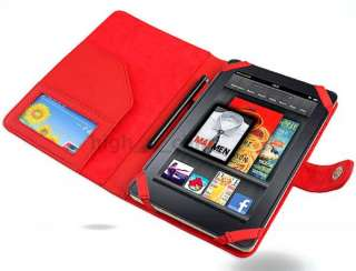 Leather Case Cover Sleeve for  Kindle Fire RED US Stock
