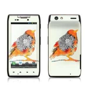 Orange Bird Design Protective Skin Decal Sticker for Motorola Droid