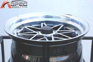 VARRSTOEN V2 BLACK MACHINED FACE LIP15X8 4X100 +0 JDM OLD SCHOLL RIM