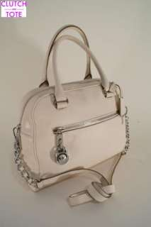 Michael Kors Knox Vanilla Leather Satchel Handbag