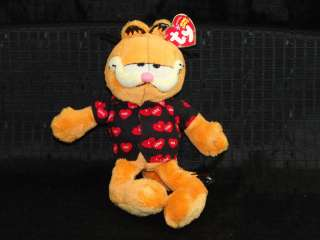Ty Garfield Happy Valentine Day heart Pajamas Plush toy