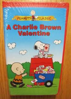 Peanuts Classic A CHARLIE BROWN VALENTINE VHS VIDEO NEW Snoopy