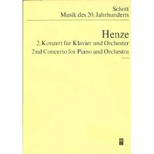 for Piano and Orchestra. Studien Partitur Hans Werner Henze Books