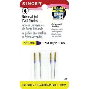 Singer Universal Ball Point Machine Needles for Knit Fabric