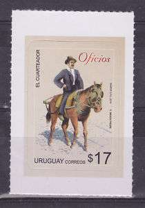 URUGUAY MNH STAMPS Labor cowboy horse traditional dress