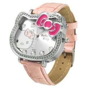 Ladies Hello Kitty metal cased watch with syn leather strap   light