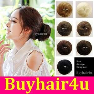 Updo Clip in on Bun Hair Piece Extensions New Woman Chignon Hairpiece