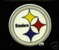 Pittsburgh Steelers 3 inch Logo Iron On Patch   Warehoused Unused!!