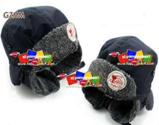 Newborn Boys Baby Childrens Super warm Beanies Hat Cap Hats Black