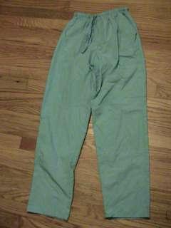 WOMENS SIZE XS scrub uniform PANTS aqua drawstring elastic