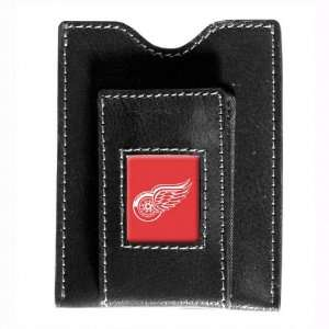 Red Wings Black Leather Money Clip & Card Case Sports & Outdoors