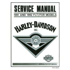 Harley Davidson Service Manual for 1991 and 1992 FLT/FXR Models