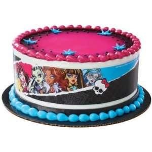 Monster High Designer Prints Edible Cake Image